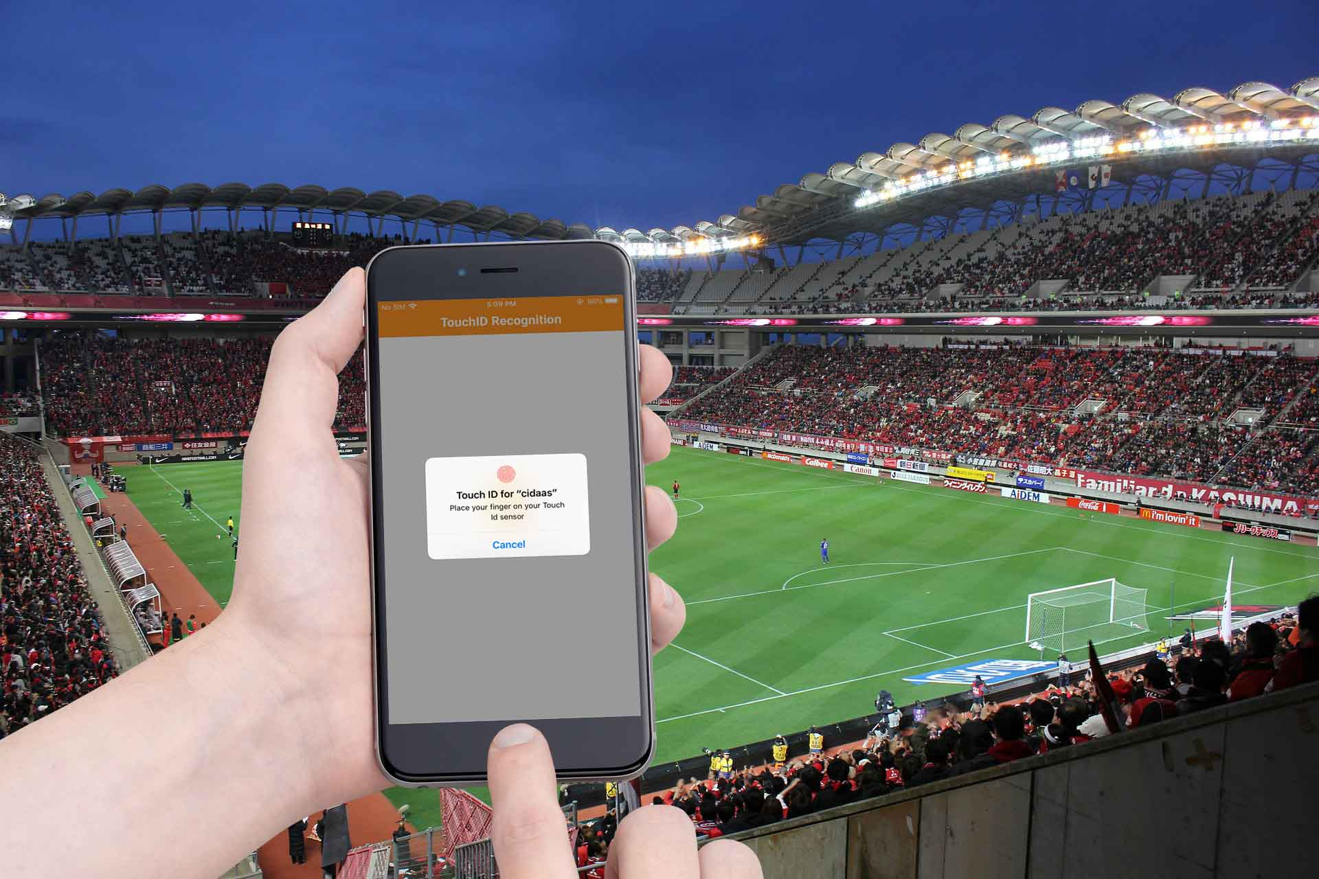 Digital access management through real-world identification at the event location