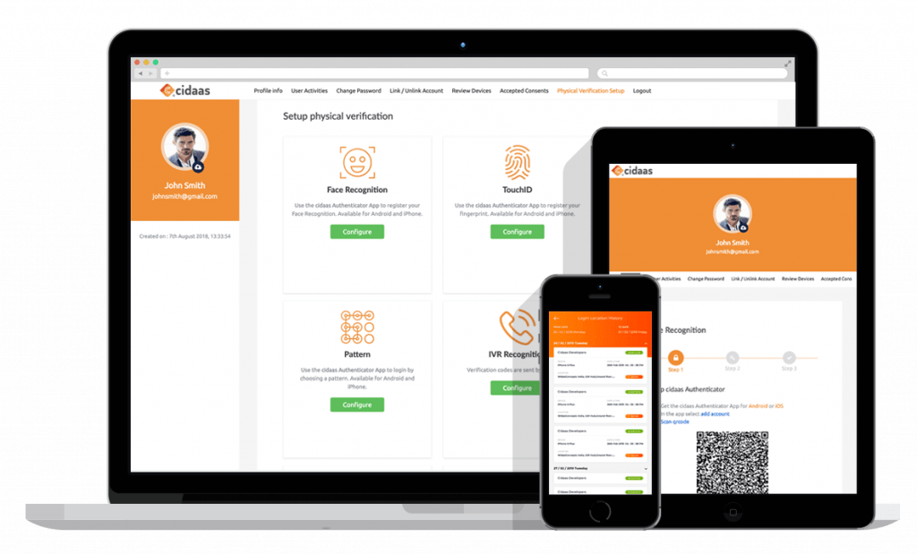 cidaas Admin UI to configure the Cloud Identity and Access Management