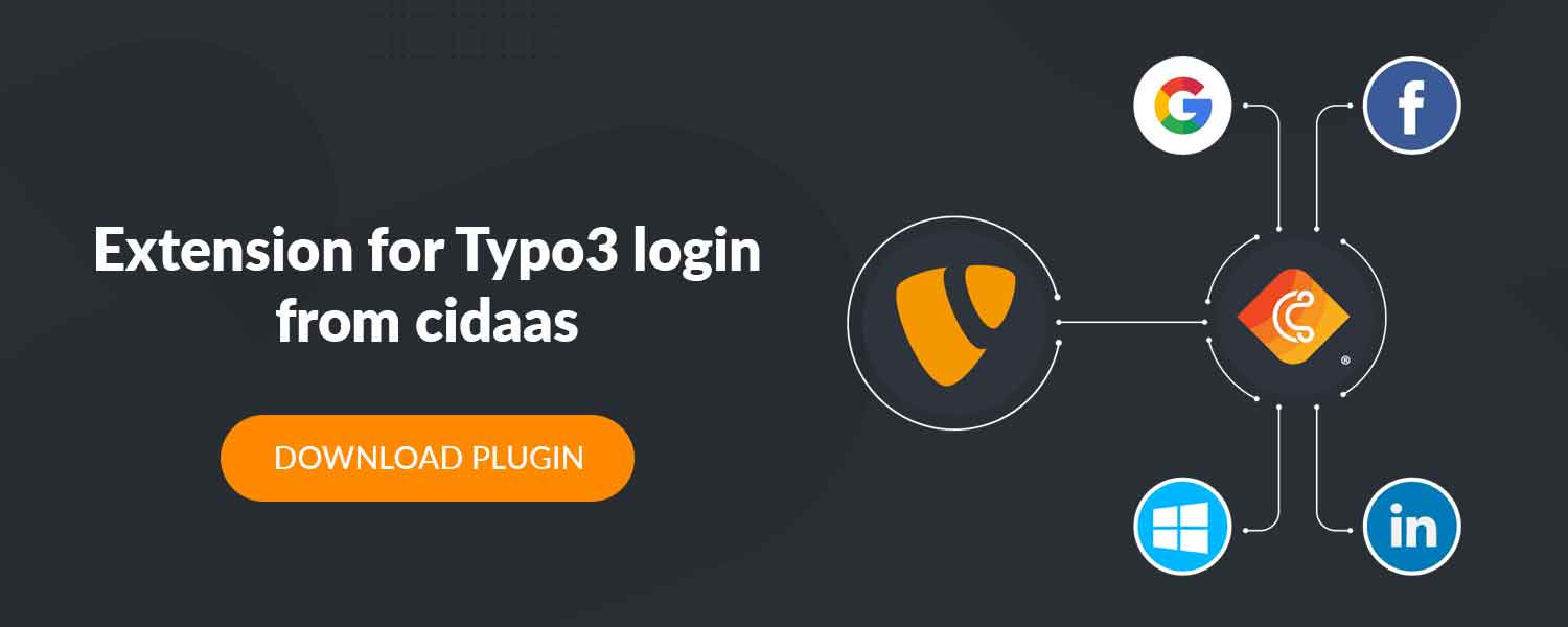 Extension for Typo3 login from cidaas