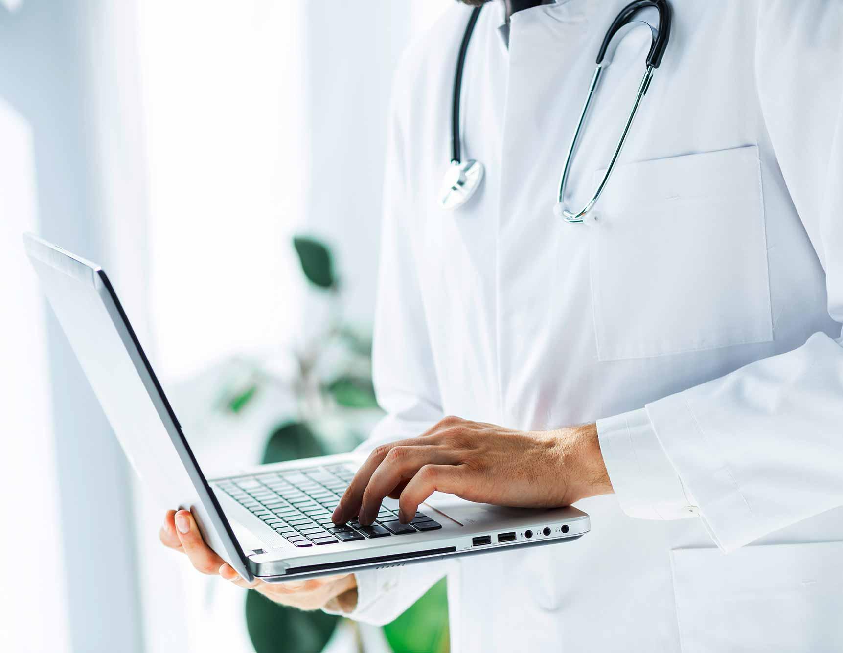 Die moderne, digitale gesundheitsbehandlung basiert auf zusammenarbeit
