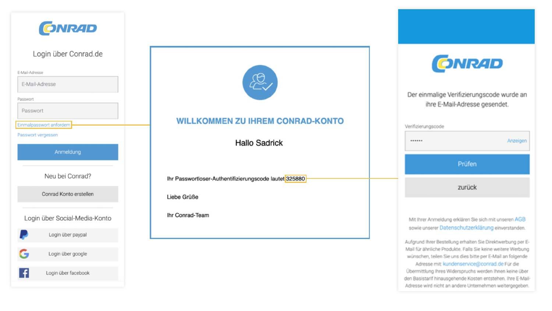 cidaas integration in Conrad