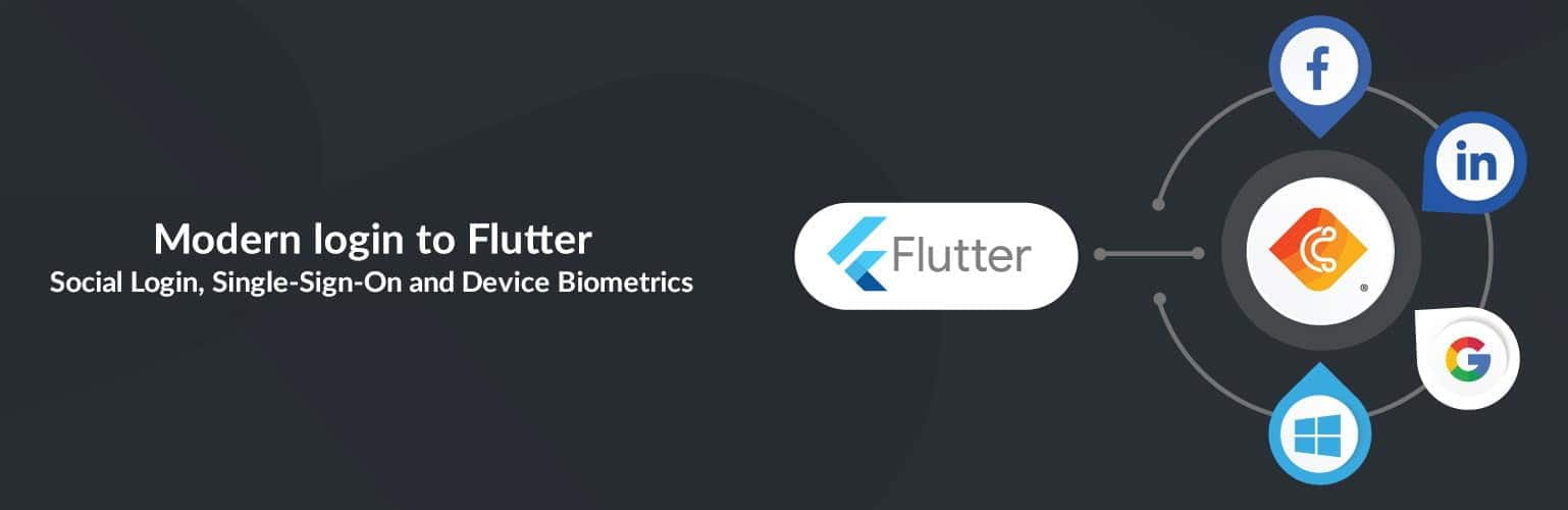 Modern login to Flutter: Social Login, Single-Sign-On and Device Biometrics