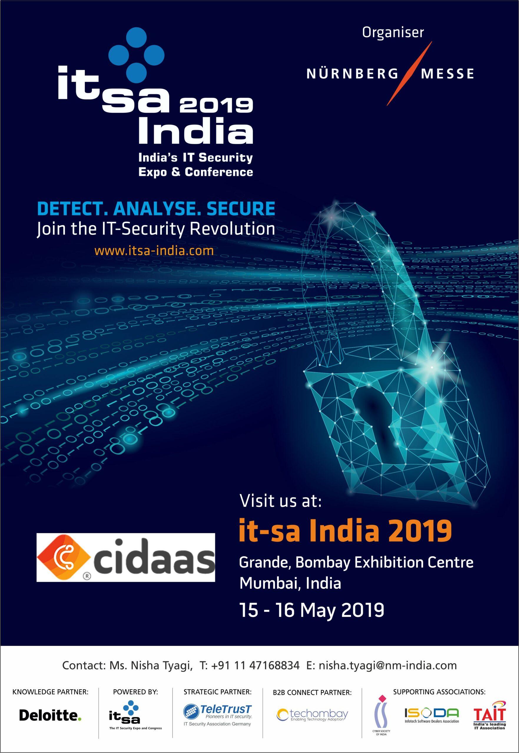 cidaas auf der it-sa 2019 in mumbai